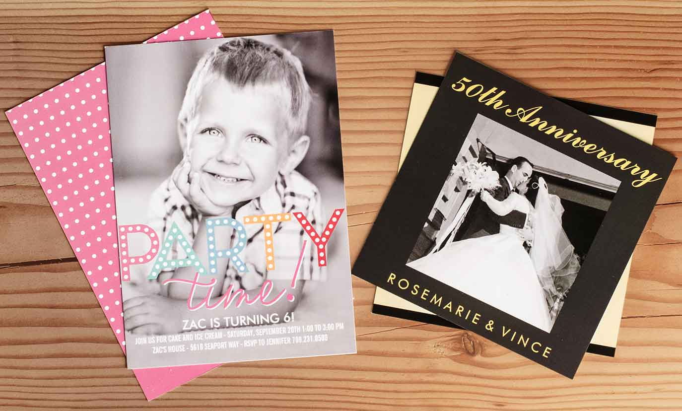 Faire-part, cartons d'invitation et photocartes